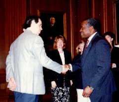 Meeting Justice Clarence Thomas at the Supreme Court in 1995