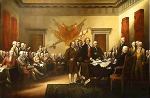Presenting the Declaration of Independence to the Continental Congress