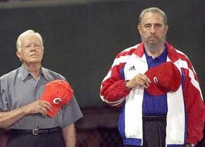 Carter with Friend Fidel Castro