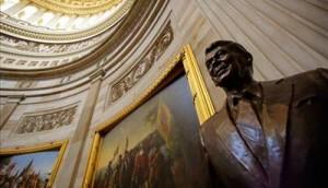 New Reagan Statue in the Capitol Rotunda