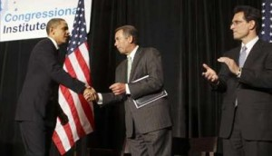 Obama Greets GOP Leaders