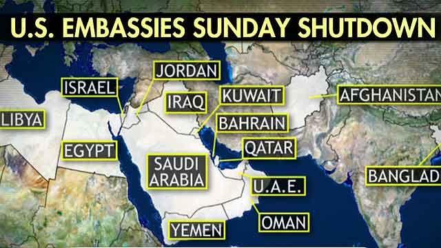 Embassies Closed