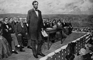 Abraham Lincoln--Gettysburg Address Drawing