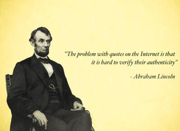 Lincoln Quotes on Internet