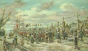 Lord De La Warr's Arrival