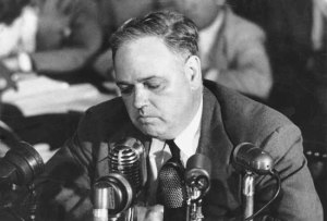 Chambers Testifying at HUAC