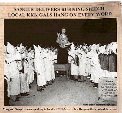 Margaret Sanger with KKK