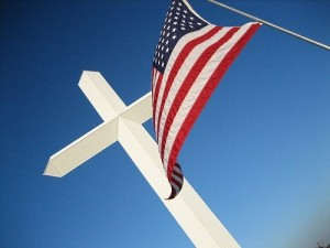 Cross & Flag
