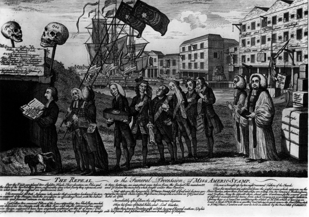 Stamp Act Repeal Satire