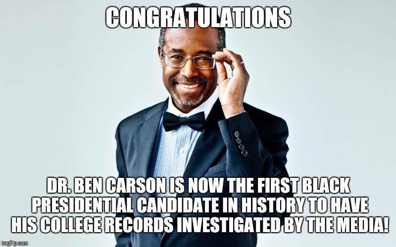 Ben Carson Congratulations