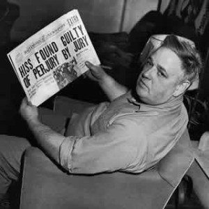Chambers with Newspaper of Hiss Verdict