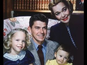 Reagan, Jane Wyman, Maureen, & Michael